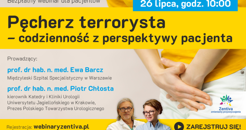 bezpłatny webinar dla pacjentów z chorobami urologiczno-ginekologicznymi